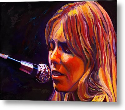 Joni Mitchell..legend Metal Print by Vel Verrept