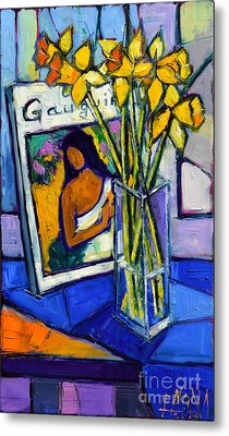 Jonquils And Gauguin Metal Print by Mona Edulesco