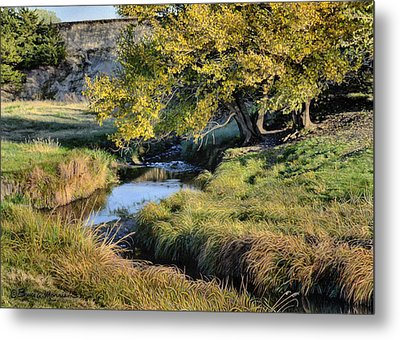 Jordan Creek Autumn Metal Print by Bruce Morrison