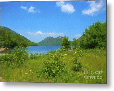 Jordan Pond Acadia National Park Metal Print