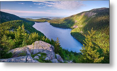 Jordan Pond From The North Bubble Metal Print by Panoramic Images