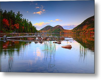 Jordan Pond In Fall Metal Print