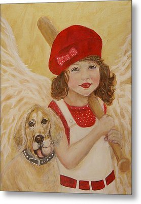 Joscelyn And Jolly Little Angel Of Playfulness Metal Print by The Art With A Heart By Charlotte Phillips