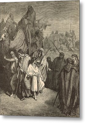 Joseph Sold Into Egypt Metal Print by Antique Engravings