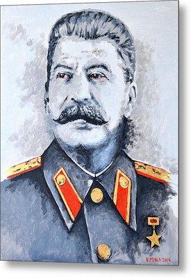 Joseph Stalin Metal Print