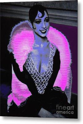 Josephine Baker The Original Flapper Metal Print by Saundra Myles