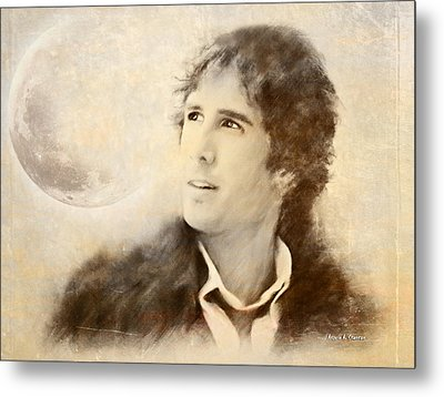 Josh Groban On A Cold Winter Night Metal Print by Angela A Stanton