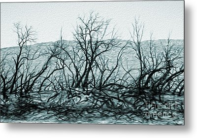 Joshua Tree - Burned Out Trees Metal Print by Gregory Dyer