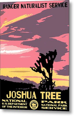 Joshua Tree National Park Vintage Poster Metal Print by Eric Glaser