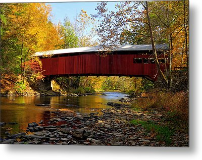 Metal Print featuring the photograph Josiah Hess Covered Bridge by Dan Myers