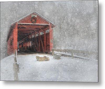 Josiah Hess Covered Bridge Metal Print by Lori Deiter
