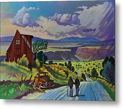 Journey Along The Road To Infinity Metal Print