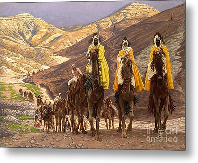 Journey Of The Magi Metal Print by Tissot