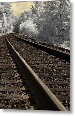 Journey On The Tracks Metal Print