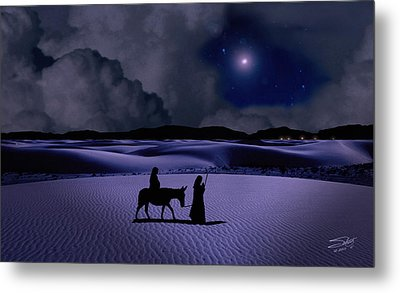 Journey To Bethlehem Metal Print by Schwartz