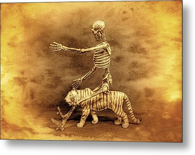 Journey With A Tiger Metal Print by Jeff  Gettis
