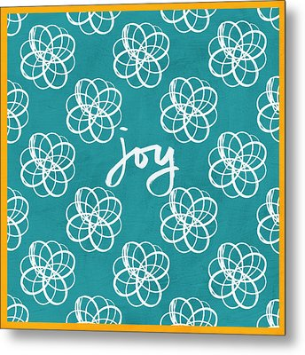 Joy Boho Floral Print Metal Print by Linda Woods