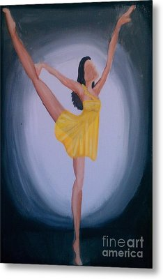 Metal Print featuring the painting Joy by Marisela Mungia