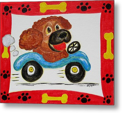 Metal Print featuring the painting Joy Ride by Diane Pape