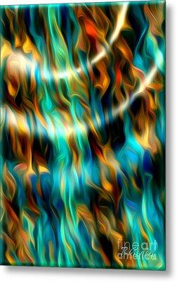 Joyful Waves - Abstract Art By Giada Rossi Metal Print