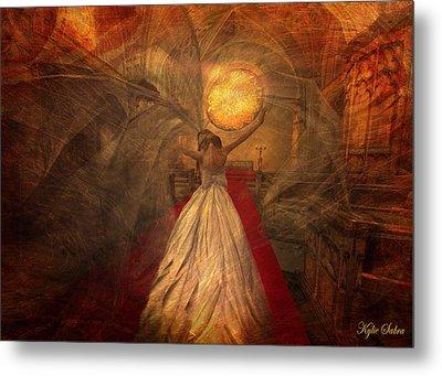Metal Print featuring the digital art Joyous Bride by Kylie Sabra