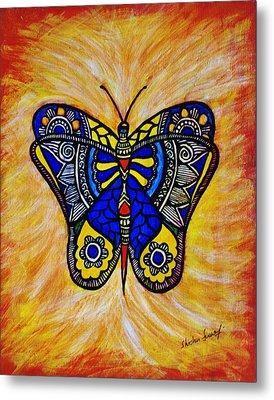 Joyous Butterfly Metal Print