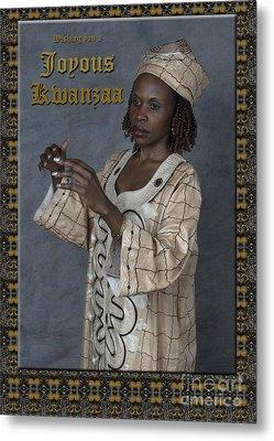Joyous Kwanzaa  Photo Greeting Card Metal Print by Andrew Govan Dantzler