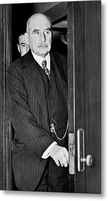 J.p. Morgan At S.e.c. Metal Print by Underwood Archives