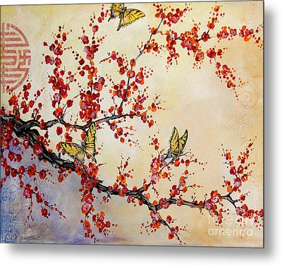 Butterfly Blossoms-jp1451 Metal Print by Jean Plout
