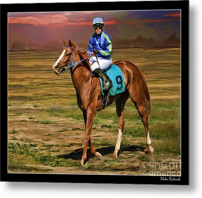 Juan Hermandez On Horse Atticus Ghost Metal Print