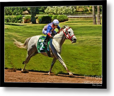 Juan Sanchez On Horse Sammy V  Metal Print by Blake Richards