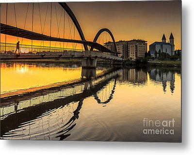 Jubia Bridge Naron Galicia Spain Metal Print by Pablo Avanzini