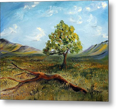Metal Print featuring the painting Jubilant Fields by Meaghan Troup