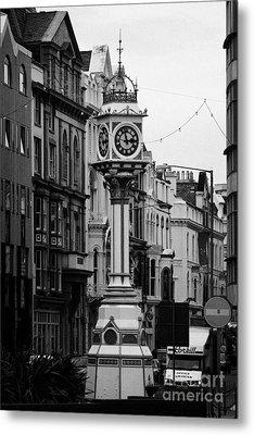 Jubilee Clock For Queen Victorias Golden Jubilee Douglas Isle Of Man Metal Print by Joe Fox