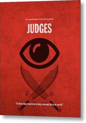 Judges Books Of The Bible Series Old Testament Minimal Poster Art Number 7 Metal Print by Design Turnpike