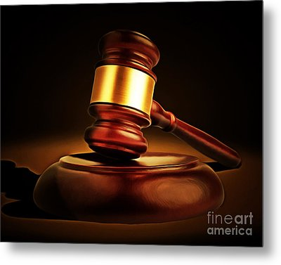 Judges Gavel 20150225 Metal Print by Wingsdomain Art and Photography