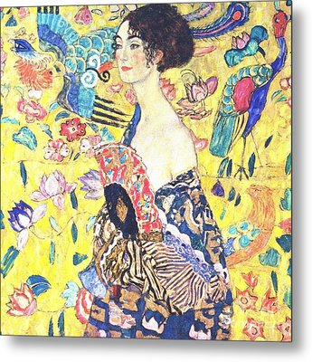 Judith 2 By Gustav Klimt Metal Print by Pg Reproductions