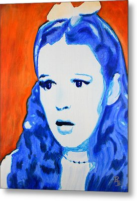 Judy Garland Dorothy Wizard Of Oz Metal Print by Bob Baker
