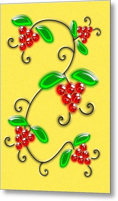 Juicy Berries Metal Print