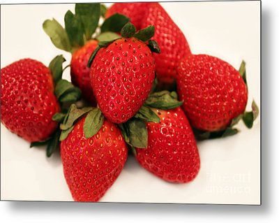 Juicy Strawberries Metal Print by Barbara Griffin