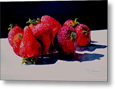 Juicy Strawberries Metal Print