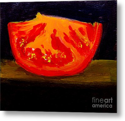 Juicy Tomato Modern Art Metal Print