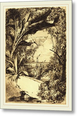 Jules-ferdinand Jacquemart French, 1837-1880 Metal Print by Litz Collection