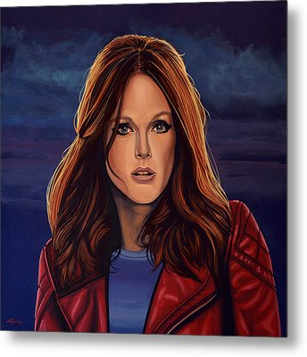 Julianne Moore Metal Print by Paul Meijering
