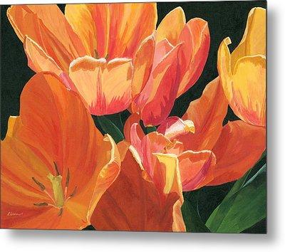 Julie's Tulips Metal Print by Lynne Reichhart