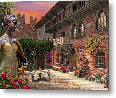 Juliette's Verona Metal Print by Dominic Davison