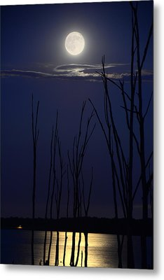 July 2014 Super Moon Metal Print by Raymond Salani III