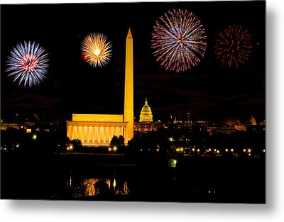 July 4th In Washington - Sydney Tran Metal Print by Sydney Tran