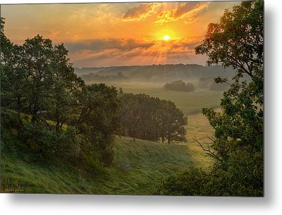 July Morning Along The Ridge Metal Print