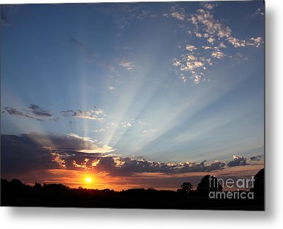 July Sky Show Metal Print by Erica Hanel